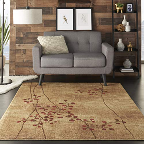 Nourison Somerset Latte Rectangle Area Rug, 5-Feet 3-Inches by 7-Feet 5-Inches (5'3