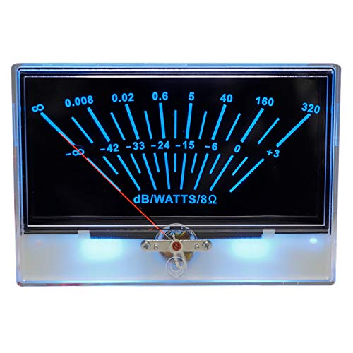 Nrpfell Scheda Driver P-134 VU Meter Scheda unità VU Meter Retroilluminazione Audio Misuratore di Potenza Digitale Analogico