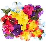 REDSTAR 30pc Hawaiian Flower Artificial Table Decoration or Centrepieces Tropical Luau Jungle Beach Party Wedding Favours Home Decor
