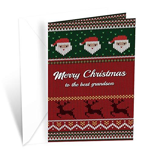 Prime Greetings Christmas Card For Grandson