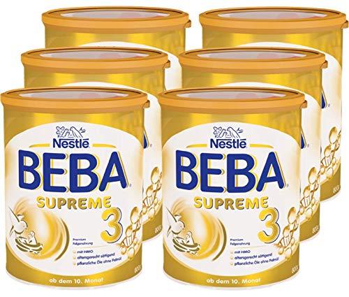 Nestlé BEBA SUPREME 3 Folgenahrung: ab dem 10. Monat, Pulver, im Anschluss an das Stillen, 6er Pack (6 x 800g)