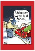 サンタduiクリスマスFunnyカード 12 Christmas Card Pack (SKU:B2476XSG)