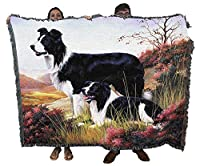 Pure Country 1123-T Border Collie Pet Blanket, Various Blended Colorways, 53 by 70-Inch by Pure Country