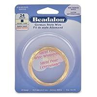 Beadalon Square Non-Tarnish Brass 24-Gauge Wire, 4-Meters by Beadalon