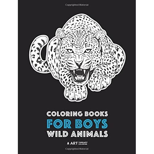 Coloring Books For Boys: Wild Animals: Advanced Coloring ...
