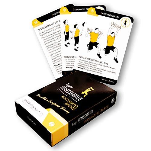 figgrs Trainingskarten Kurzhantel Basics I 50 Fitness Übungen für effektives Ganzkörpertraining I Sport für zuhause I Kurzhanteltraining für Männer und Frauen