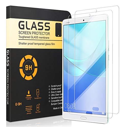 Yoedge Protector de Pantalla para Huawei Mediapad M5 8,4, Templado Protector Cristal de Vidrio Premium Templado Transparente [9H Dureza] para Huawei Mediapad M5 8,4 Pulgadas, 2 Pack