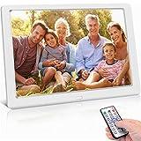Cornice Digitale da 8 Pollici 1280x720 ad Alta Risoluzione, Photo/Music/Video, Calendario, Allarme, Cornice Foto Digitale Supporto USB e Scheda SD, Telecomando