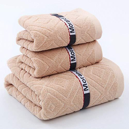 Suave y Grueso Altamente Colores Resistentes Toallas de baño,Toalla Suave de algodón Puro, Toalla de baño Absorbente (Juego de 3 Piezas) -F,Suave y Grueso Altamente Toalla de Ducha