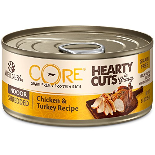 Wellness CORE Hearty Cuts Indoor Shredded Chicken and Turkey wet cat food