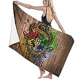 Por encargo Harry Potter adulto suave absorbente toallas de baño para baño de secado rápido toalla de playa de gran tamaño para mujeres hombres