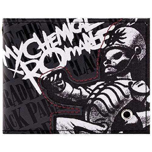 Cartera de My Chemical Romance Black Parade Rock Gris