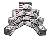 [2000-Pack] Liberty Masks | Made in USA | 3 Ply Disposable Face Masks | Adjustable Nose Wire | Breathable Face Covering | Lightweight | Soft Elastic Ear Loops