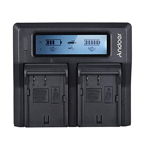 Carregador, Carregador de bateria de câmera LCD de canal duplo DMW-BLF19E compatível com Lumix DC-GH5 DMC-GH3 DMC-GH3K DMC-GH4 DMC-GH4K