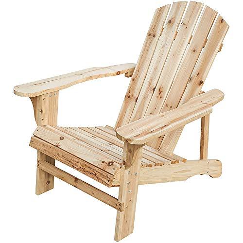 ZDYLM-Y Adirondack Chair, Material de Madera de Abeto Natural, Resistente a la Intemperie, Silla de Patio de diseño ergonómico para Exteriores, para Patio, jardín