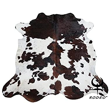 New Hilason Exotic Medium Hair-On Leather Pure Brazillian Cowhide Skin Rug