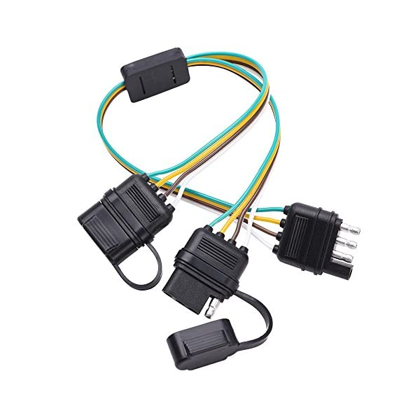 MICTUNING Universal 4 Way Flat Y-Splitter Plug and Play Adapter Extension Harness...