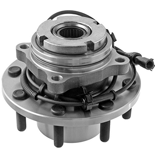 Detroit Axle - 4x4 Front Wheel Hub Bearing for 1999-2004 Ford F-250 F-350 F-450 F-550 Super Duty w/ABS - 515025
