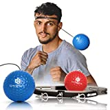 Boxing Reflex Ball Set - 2 Boxing Balls with Headband and Swivels - Eye-Hand Coordination Workout for Punching Speed Fight Skills and Agility Training