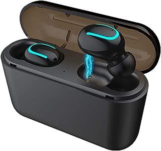 shiYsRL Bluetooth Earphone Mini True Wireless Tws Bluetooth 5.0 Sport Music Handsfree Earbuds Earphone One Size Black