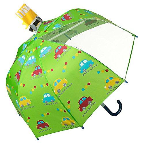 VON LILIENFELD Regenschirm Kinderschirm Autos Bus Stockschirm Kind Junge Mädchen bis ca. 8 Jahre