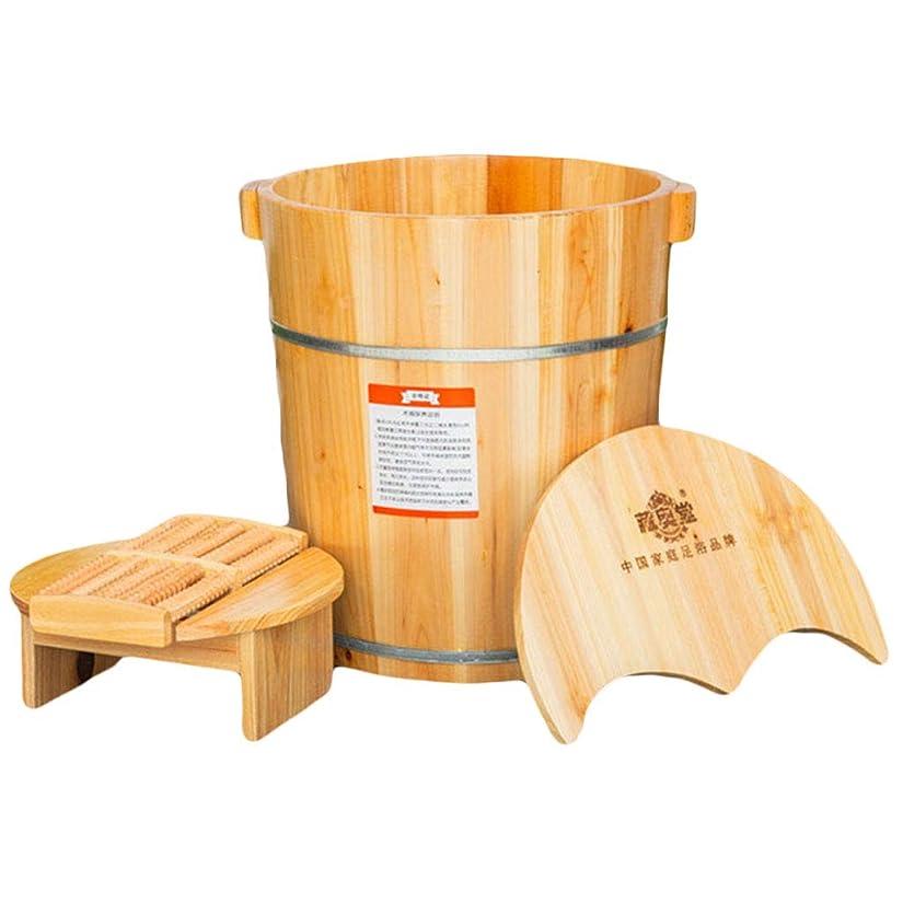 黒板タブレットにもかかわらず蓋フットバスマッサージペディキュアバレルの高深度木製の足浴槽の足流域とフットウォッシュ木製の足浴槽の家庭用スツール