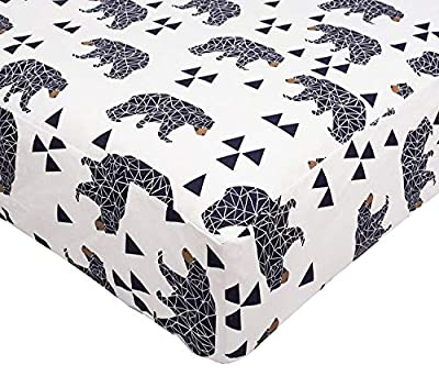 SLEEPING LAMB Cotton Crib Sheet Unisex Fitted Portable Baby Girl Toddler Boy Mattress