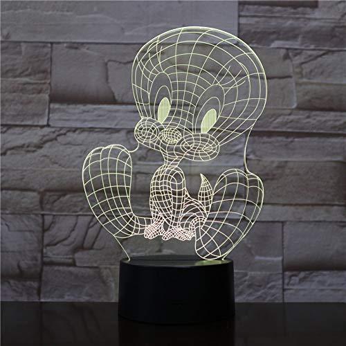 3D nachtlampje illusie lamp LED cartoon-action figuur decoratief licht sfeerlicht afstandsbediening bedlampje 7 kleuren varianten voor kinderkamerdecoratie en kindergeschenken
