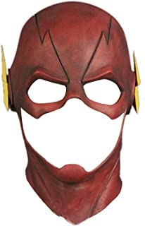 OREAD Flash Mask Rubber Latex Adult Halloween Party Mask Head Full Face Helmet Red