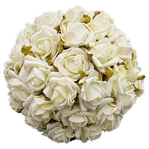 bastelix.eu Rosenkugel Hochzeit Festtag Geburtstag Jubiläum Rosenball 13cm (weiß)