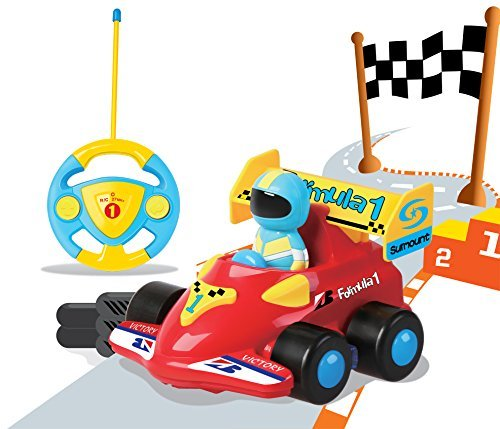JakMean Cartoon R/C Race Car Radio Control Toy for Toddlers