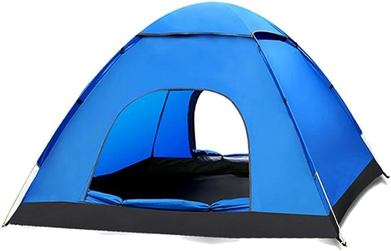 XY&CF Tente Four Seasons Double Tente Set tente de camping en plein air Set 3-4 personnes Tente tente de tunnel de plage (Couleur   A)
