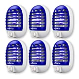 MOSKILA Bug Zapper- 6 Packs Electronic Fruit Fly Month Zapper- Insect Pest Attractant Trap-Light Mosquitoes Killer Indoor Non-Toxic Silent Effective Operation- Insects Killer Lamp for Backyard Patio