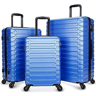 SHOWKOO 3 Piece Luggage Sets Expandable ABS Hardshell...