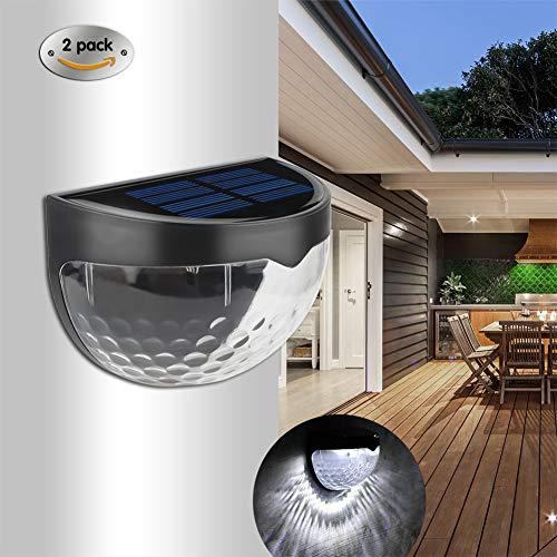 4er Set LED SOLAR Wandleuchte Zaunbeleuchtung wetterfeste Solar Außenleuchte