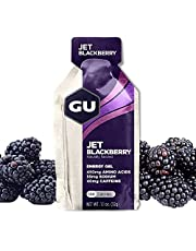 GU Energy Gel, Jet Blackberry (braambes), Box met 24 x 32 g