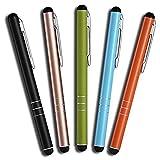 MobiLinyi 5 Stück Premium Eingabestift Touchstift Stylus Pen für Apple iPhone ipad Air Pro Samsung...