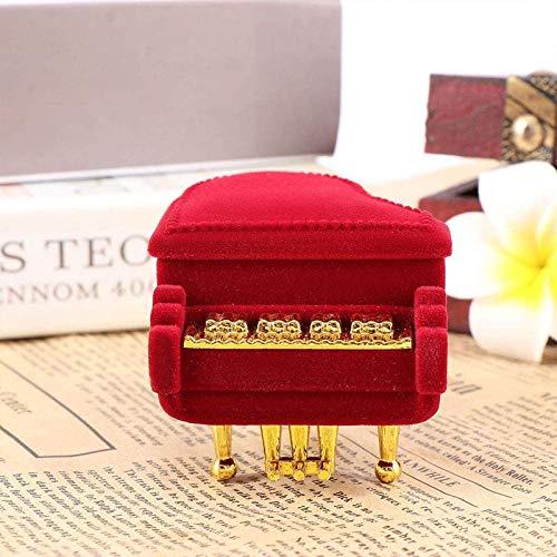 Ikpdbw Jewelry Storage Box Cute Piano Ring Box Earrings Necklace Pendant Jewelry Gift Storage Box Wedding