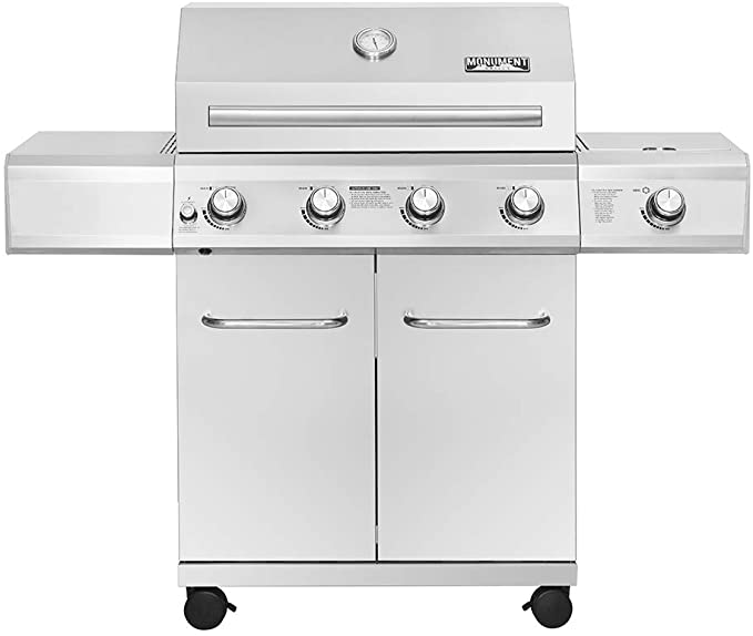 Monument Grills 25392 4-Burner Propane Gas Grill - Best BTU Delivery Output