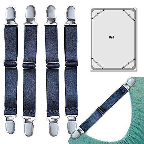 Willlly 4 stuks spanbanden voor lakenspanner, verstelbare matrassluiting, hoge weerstand, hoekspanner, BH's, voor beddengoed, matras, sofakussens