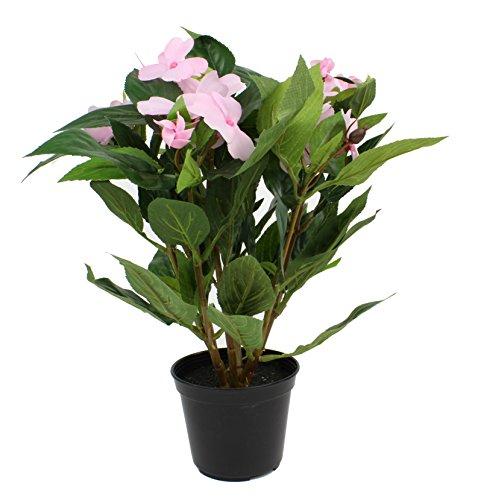 artfleur - künstliche Impatiens im Topf Fleißiges Lieschen 30cm Blühpflanze Kunstpflanze Topfpflanze