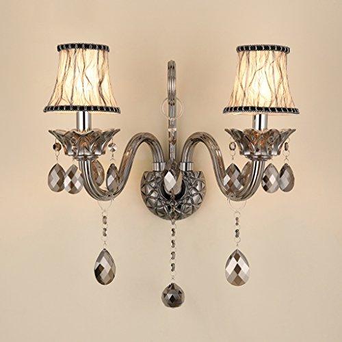 Applique murale SKC Lighting Lampe Murale en Cristal européen, Chambre à Coucher, Salon, Couloir, allée de Mur (Taille : Double Head)