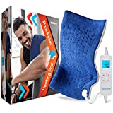 Full Body Electric Heating Pad - Portable Washable Large Warming Blanket Heat Pack [12'x24'] Therapy Pad w/Auto Shut Off for Back Neck Shoulder Foot Leg Muscle Pain Menstrual Period Cramps -SereneLife