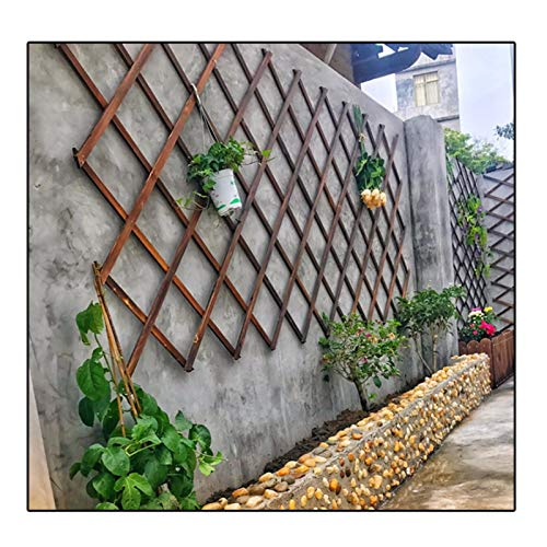 LJIANW Garden Fencing, Retractable Fence Plant Flower Stand Climbing Frame Balcony Safety Grid Easy To Fix For Outdoor Patio Deck Farm, 3Sizes (Color : Beige, Size : 50x190cm)