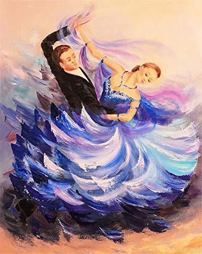 Malen Nach Zahlen DIY Leinwand Gemälde Tanzpaar Walzer Für Erwachsene Und Kinder 40X50Cm No Frame
