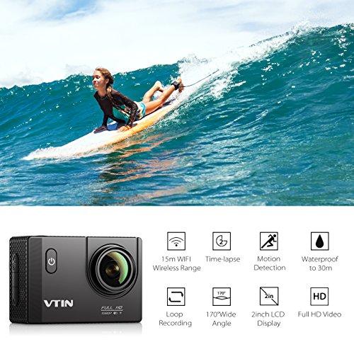 VTIN Action Kamera WIFI VTIN Full HD 1080P Sport Action Camera Cam Wasserdicht - 2