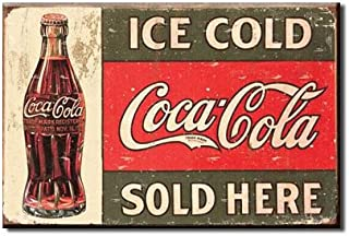 (2x3) Ice Cold Coca Cola Sold Here 1916 Coke Bottle Distressed Retro Vintage Locker Refrigerator Magnet