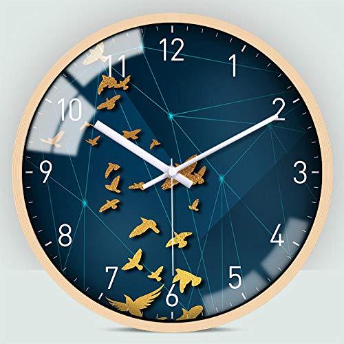 DKLGH Reloj de Pared Reloj Simple Reloj de Pared Sala de Estar Reloj de casa Moderno Personalidad Moda Creativo Reloj de Pared de Ciervo-C