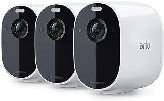 Arlo Essential Spotlight Camera - 3 Pack - Wireless Security, 1080p Video, Color Night Vision, 2 Way Audio, Wire-Free, Dir...