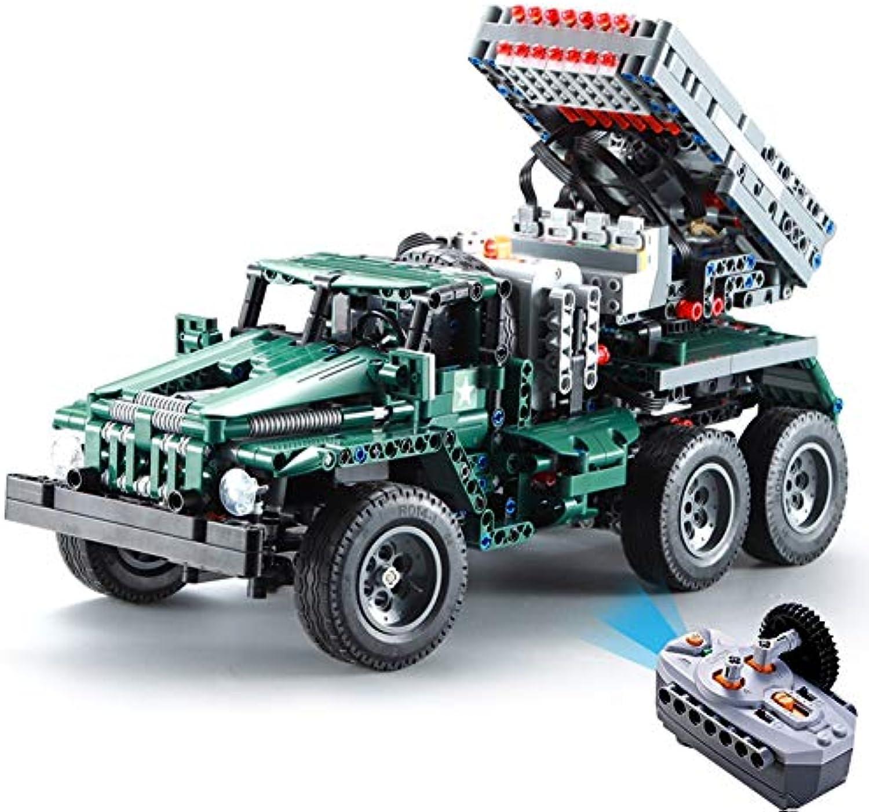 Yyz 1369pcs RC Rocket Launcher Truck Car 2in1 Creator Technic Military Power Funcation Building Blocks Bricks Spielzeug for Birthday Gift Boys